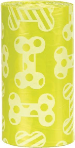 Пакеты для уборки за собаками Trixie, с запахом лимона, цвет желтый, М (4 рулона по 20 штук)