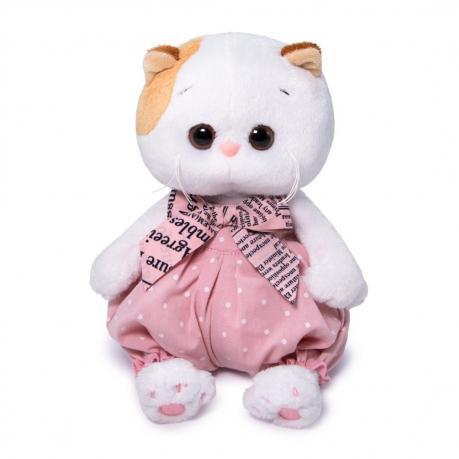 Мягкая игрушка Кошечка в песочнике в горошек Ли-Ли BABY, 20 см