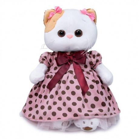 Кошечка в розовом платье в горох Ли-Ли, 24 см