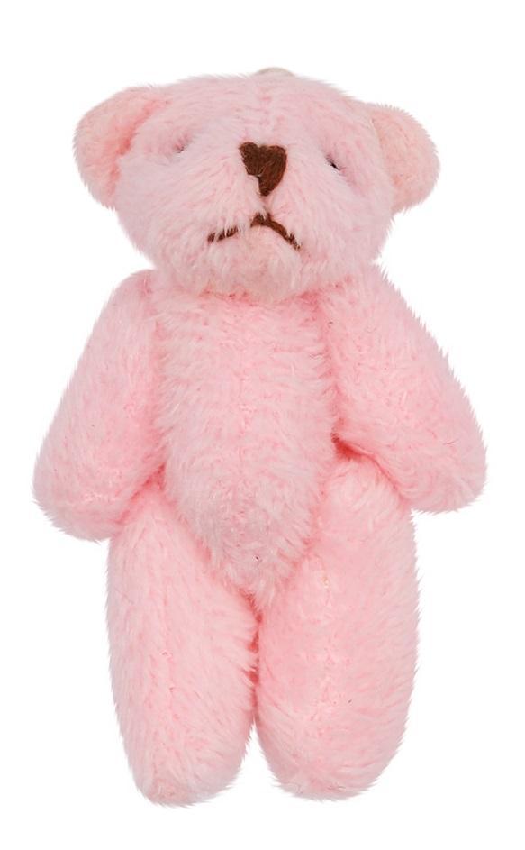 Фигурка декоративная Мишка, цвет светло-розовый, 4 см, арт. AR460