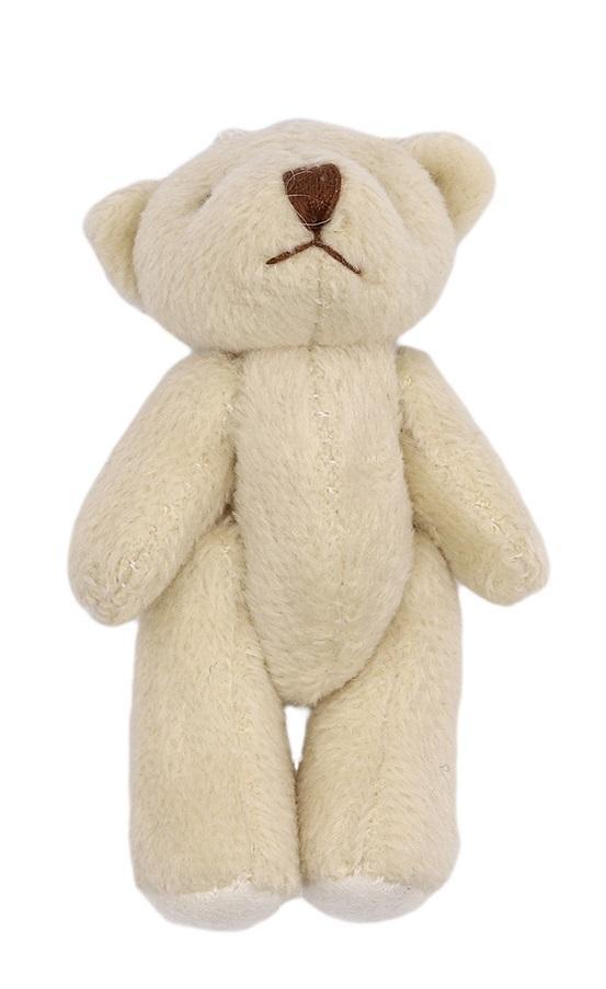 Фигурка декоративная Мишка, цвет молочный, коричневый, 6,5 см, арт. AR462