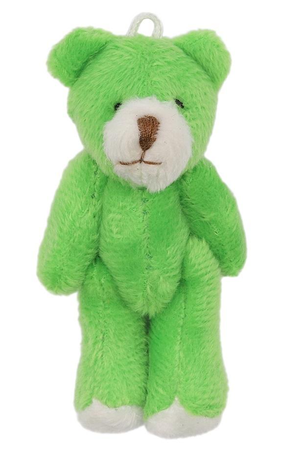 Фигурка декоративная Мишка, цвет зелёный, 7 см, арт. AR463