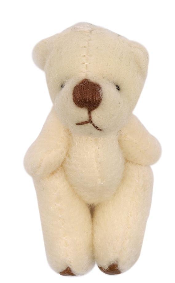 Фигурка декоративная Мишка, цвет молочный, 4,5 см, арт. AR480