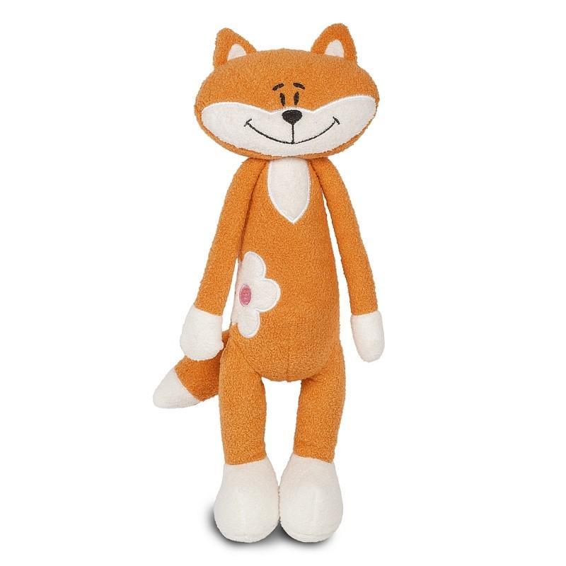 Мягкая игрушка Лисичка с цветочком, 33 см
