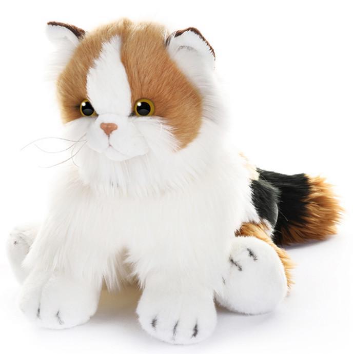 Игрушка мягкая Кот с ярким окрасом Калико Кэт, 30 см