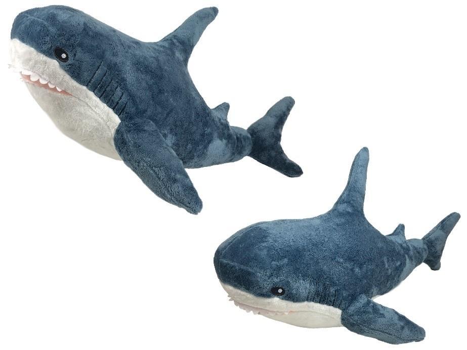 Мягкая игрушка Акула, цвет синий, 60 см