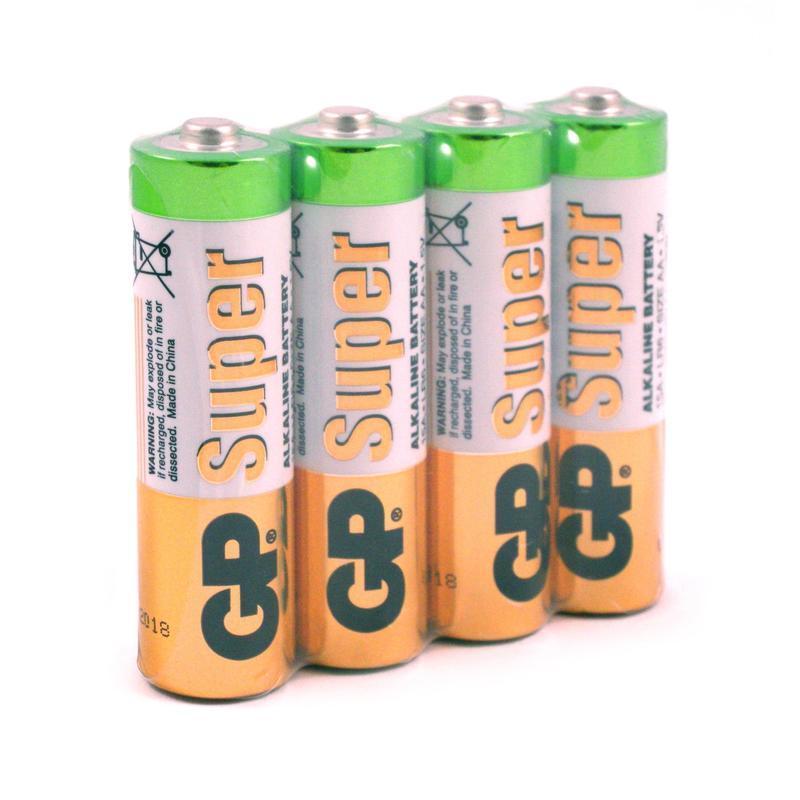 Батарейки пальчиковые GP Super, AA LR6, 4 штуки