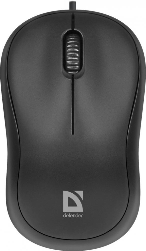Проводная оптическая мышь Defender Patch MS-759, черный, 2 кнопки, 1000 dpi, арт. 52759