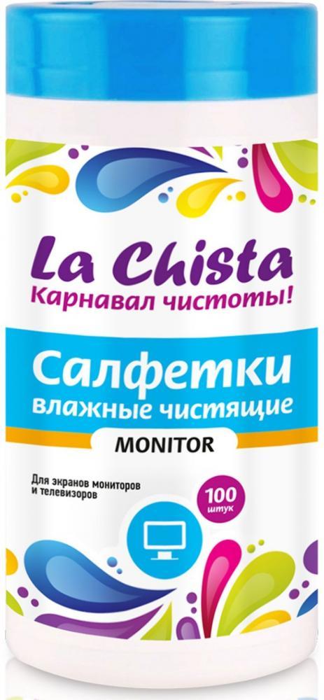 Влажные чистящие салфетки для экранов мониторов и телевизоров La Chista Monitor (100 штук)
