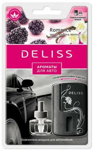 Автомобильный ароматизатор Deliss Romance, аромат жасмина, ванили, ежевики