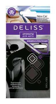 Картонный освежитель воздуха для автомобиля Deliss, New Car