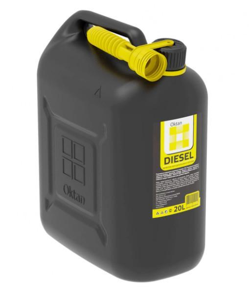 Канистра ГСМ DIESEL, 20 л, цвет черный, желтый